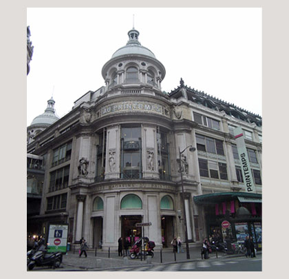 Photo du Printemps, boulevard Haussmann (9eme arrondissement de Paris)